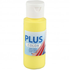 Plus Color Craft Paint, Primary Yellow