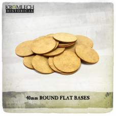40mm Flat Round Bases (1,5mm HDF)