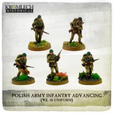 Polish Army Infantry wz. 36 uniforms advancing with rifles (5)
