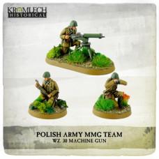 Polish Army wz. 30 Machine Gun team MG + 3