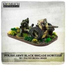 Polish Army Black Brigade wz. 1914 to1919 Skoda 100mm howitzer