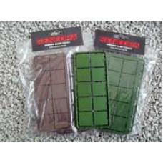 25mm x 25mm Square Plastic Bases