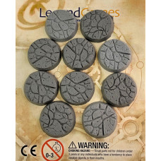 32mm Round Natural Stone Base Pack