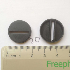 20mm Round Base Slotted